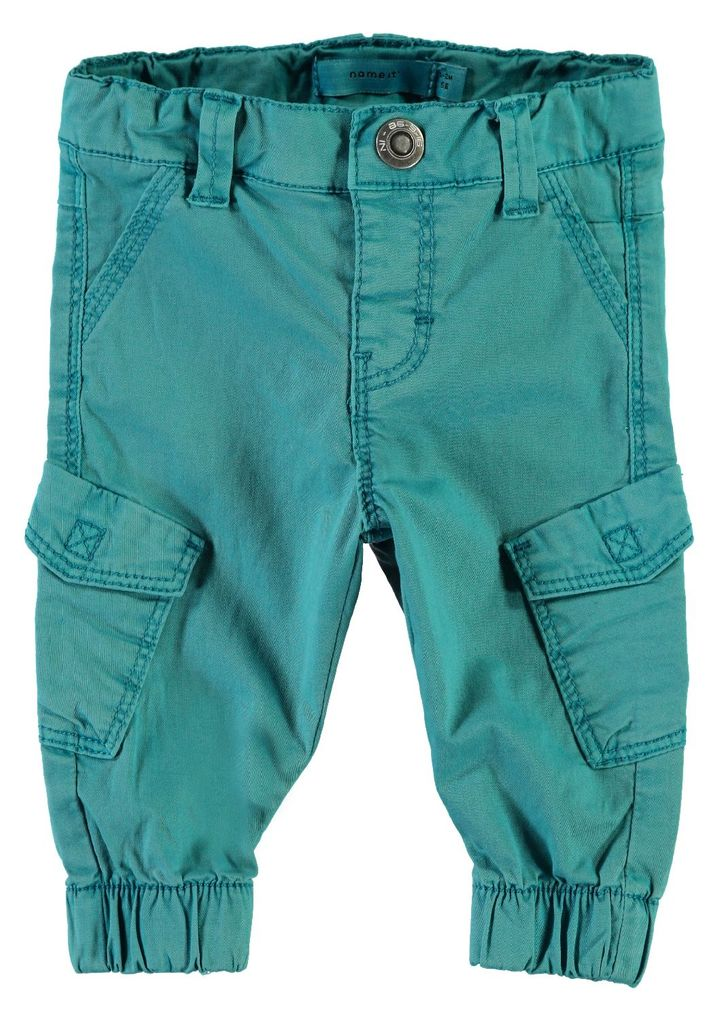 Name it Baby Jungen Chinohose im Workerstyle NBMROMEO TWIBACKI PANT lake blue – Bild 1