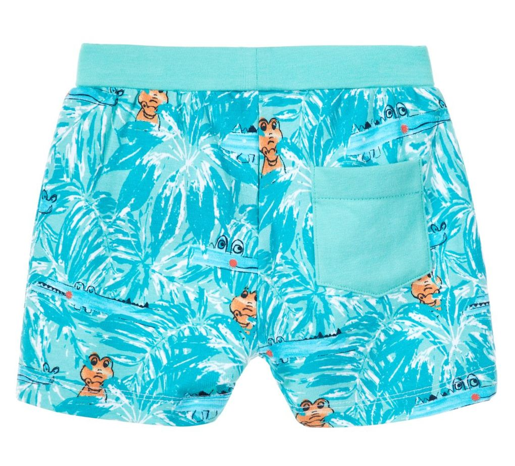 Name it Baby Jungen Jersey Shorts kurze Hose NBMDESKO in pool blue – Bild 2