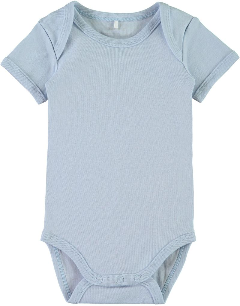 Name it Baby Kurzarmbody 3er Set cashmere blue – Bild 4