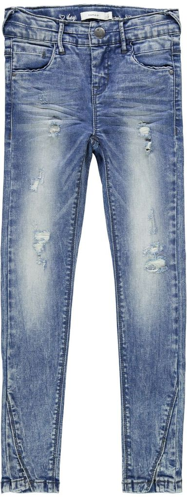 Name it Mädchen Skinny Jeans NKFPolly blue denim – Bild 1