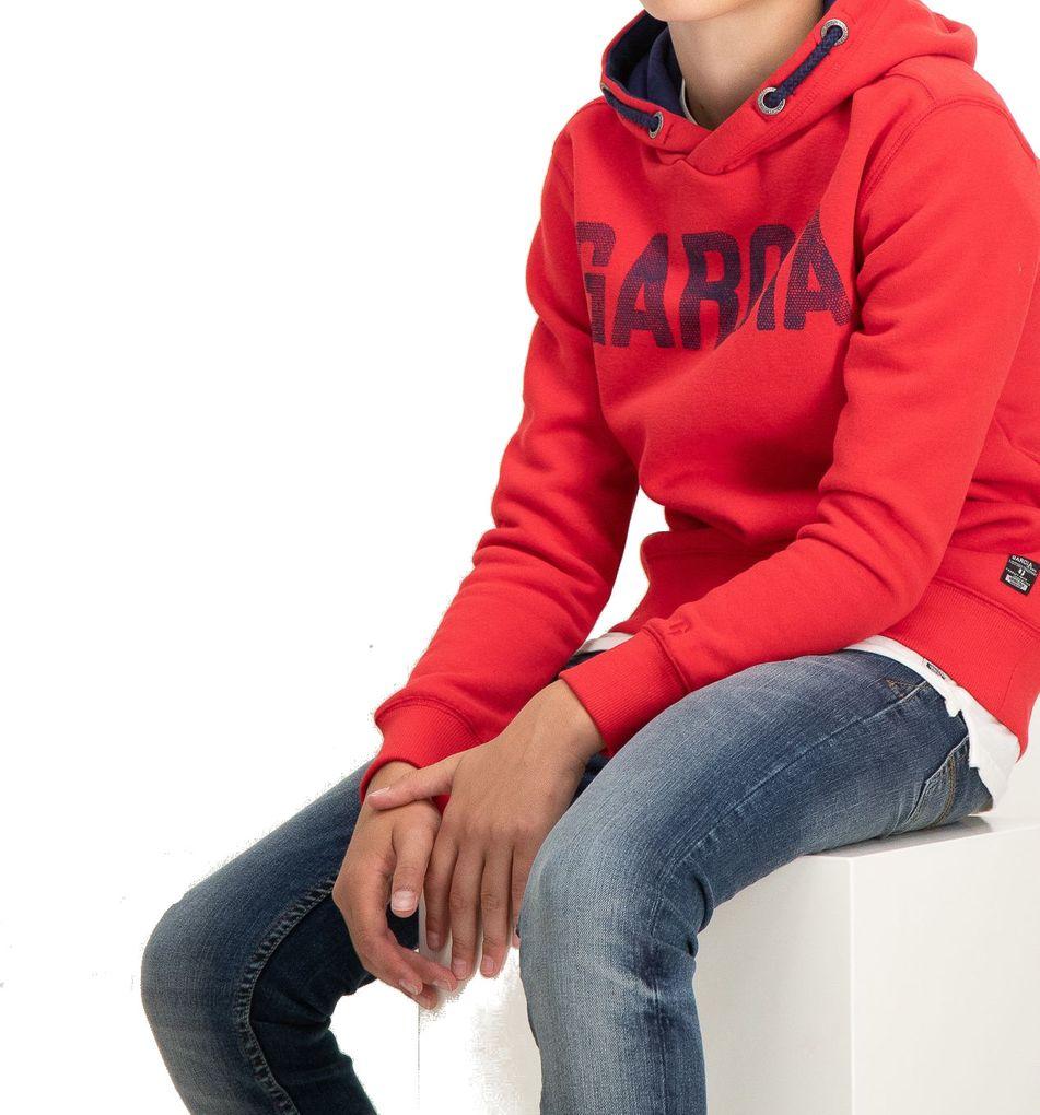 Garcia Jungen Hoodie Kapuzen-Sweatshirt angeraut in rot – Bild 2