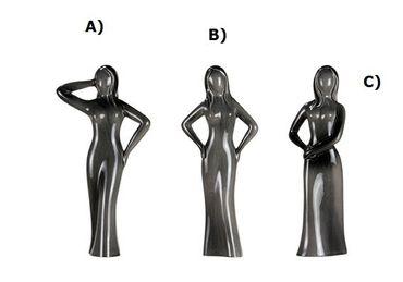 "Skulptur ""Kesse Schönheiten"" Abb. B), ""Basaltino"", basalt-grau"
