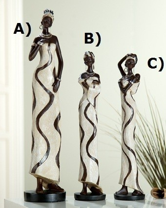 "Gilde Skulptur ""Afrikanerin Sansibar"" Abb. A)"