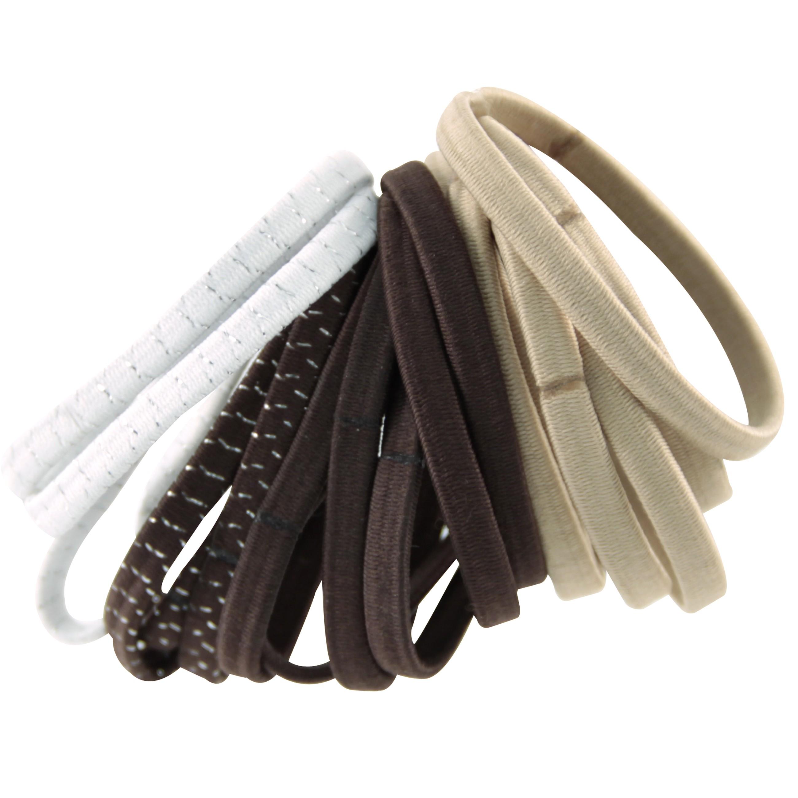 Haargummi-Set mit 18 Haarbändern