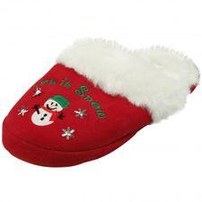 Kuschelige Damen Weihnachts-Hausschuhe