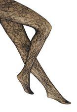elegante Netzstrumpfhose mit ausgefallenem Blumenmotiv