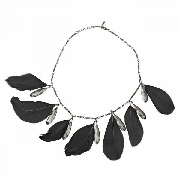 ausgefallene Feder-Halskette