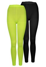 3/4 Leggings in trendigen Neonfarben
