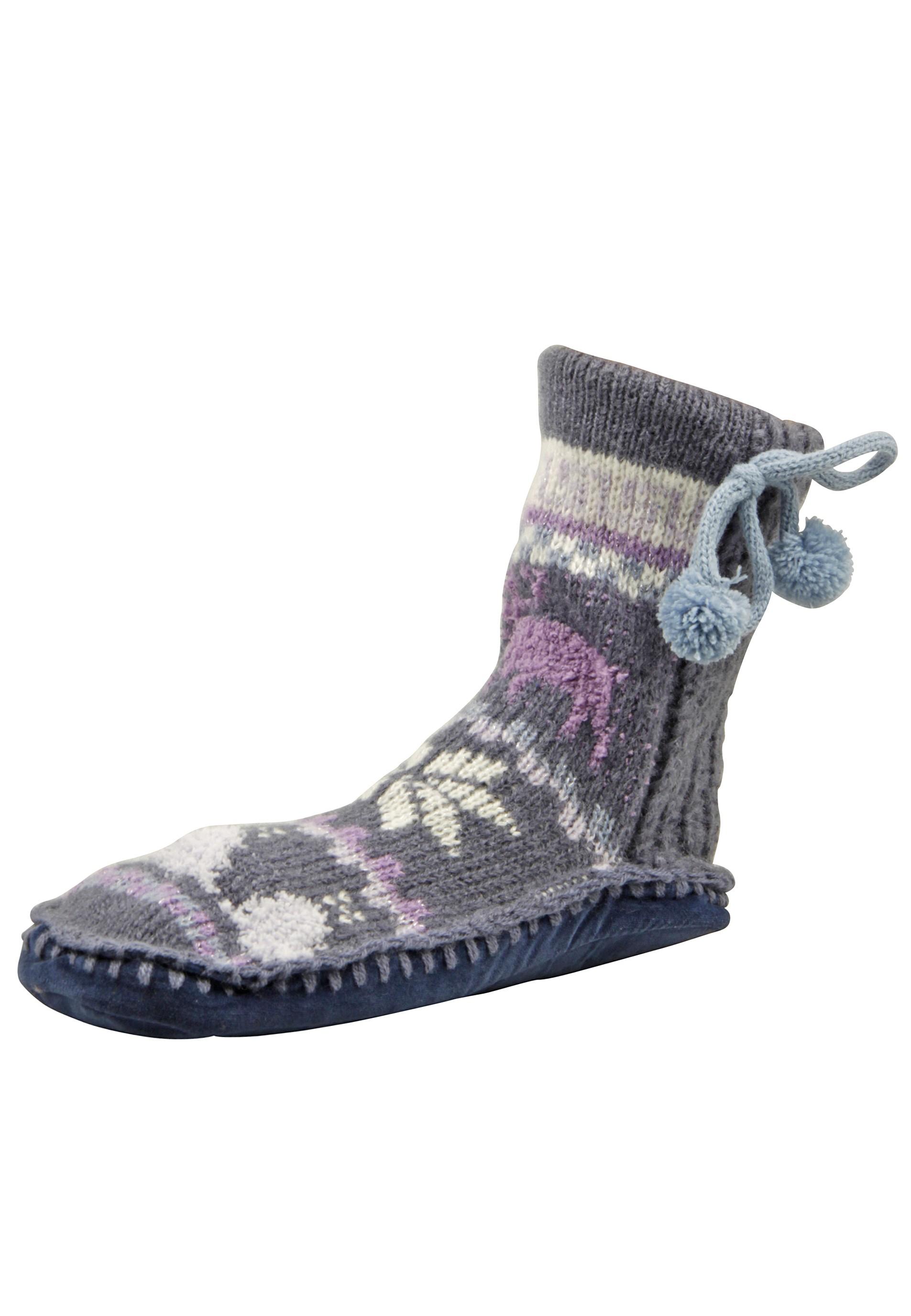kuschelige Socken mit Hirsch-Motiv