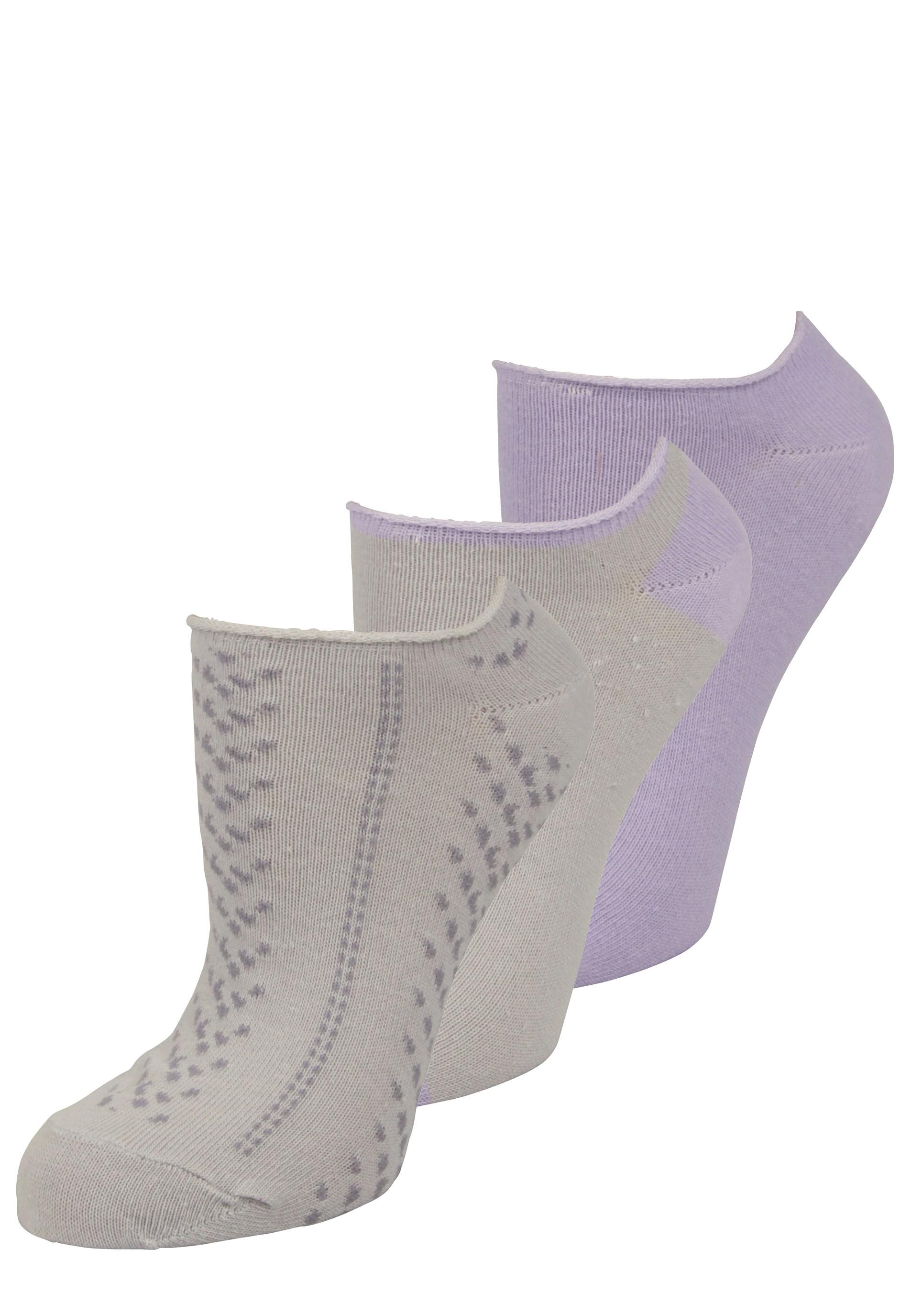 Sneaker Socken Set in grau und lila