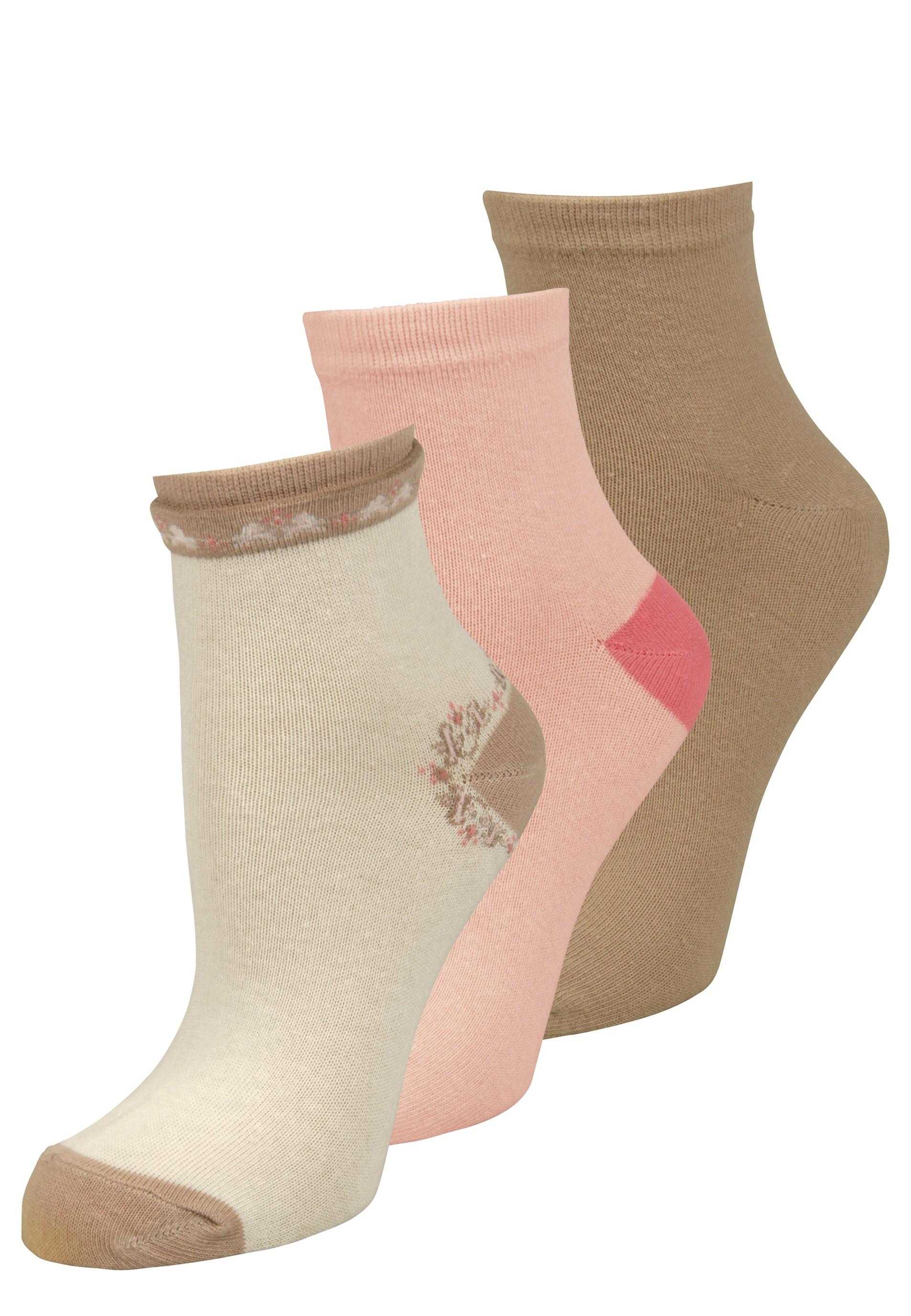 Hübsches 3er Set Socken in verschiedenen Farben