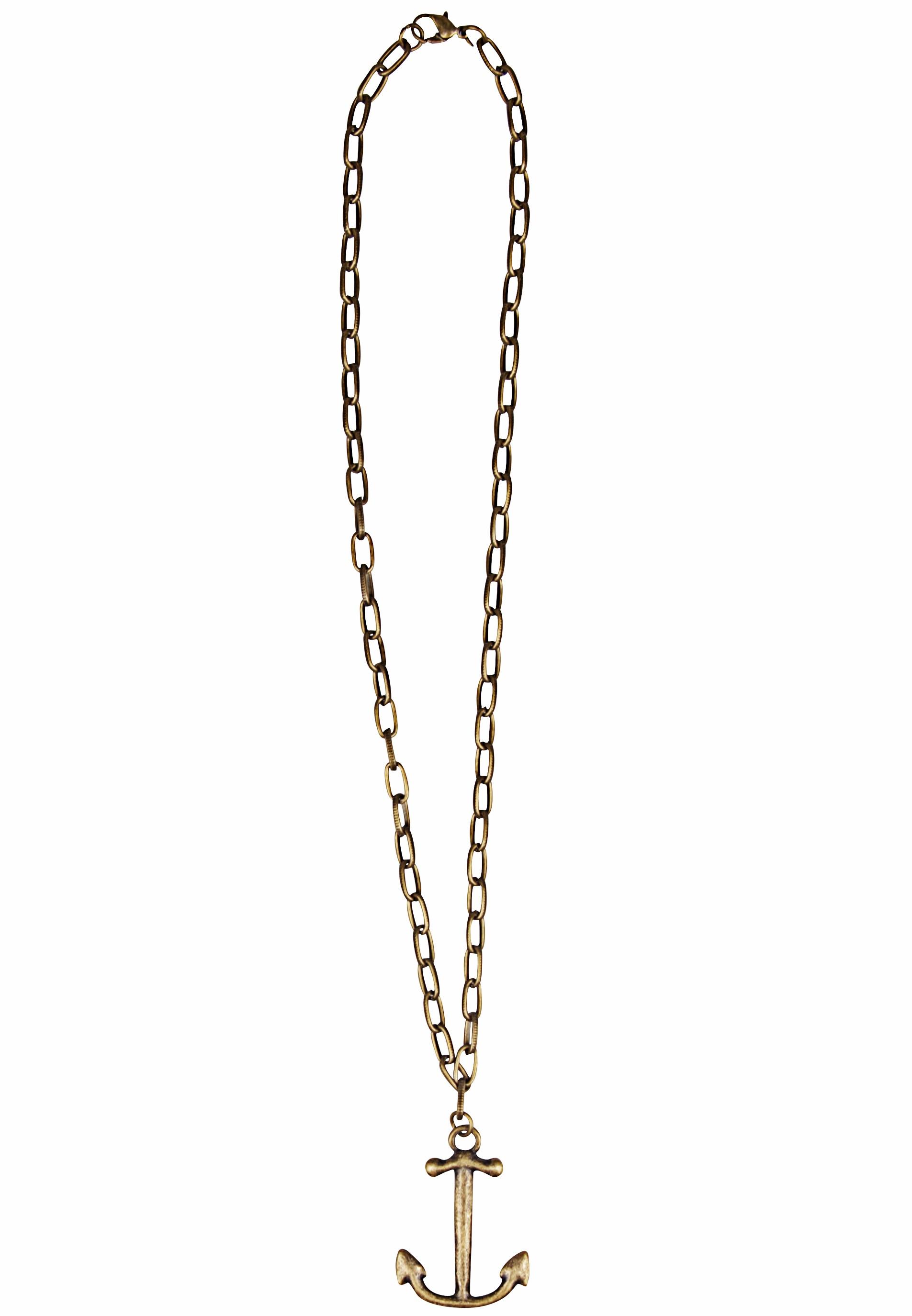 Trendy Halskette in Antikgold