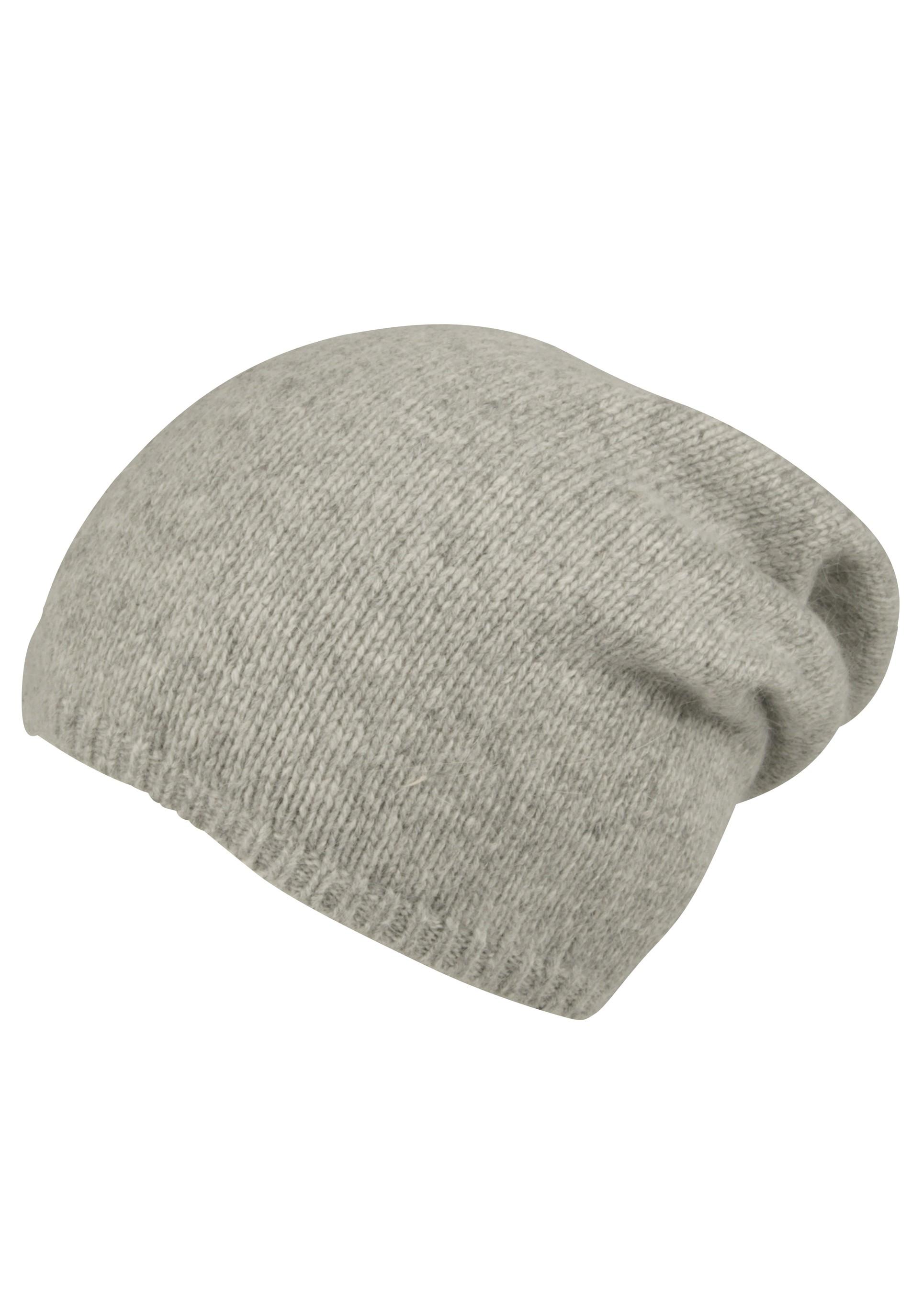 Hochwertige Longbeanie Mütze mit Angora-Anteil