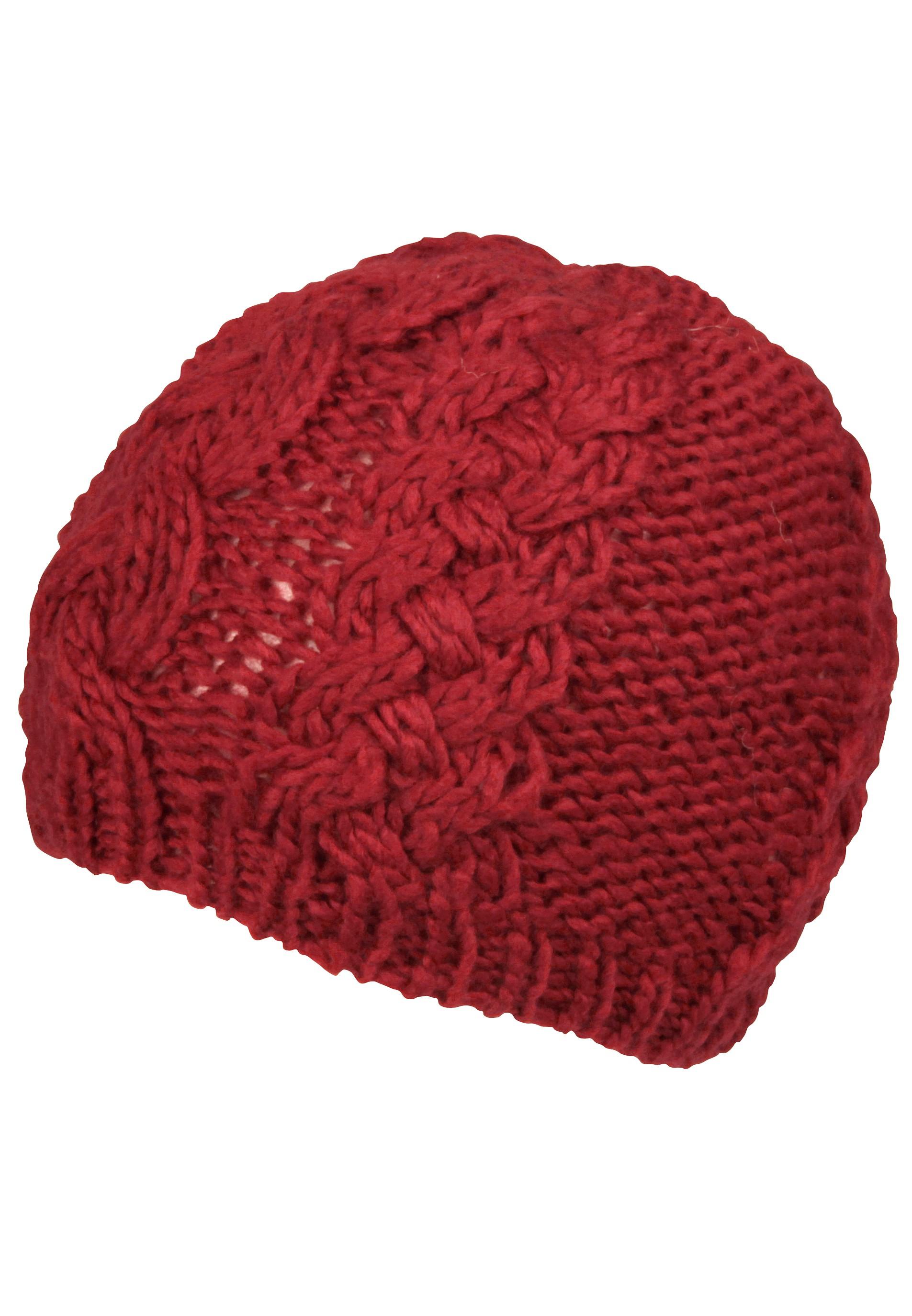 Schöne rote Strickmütze