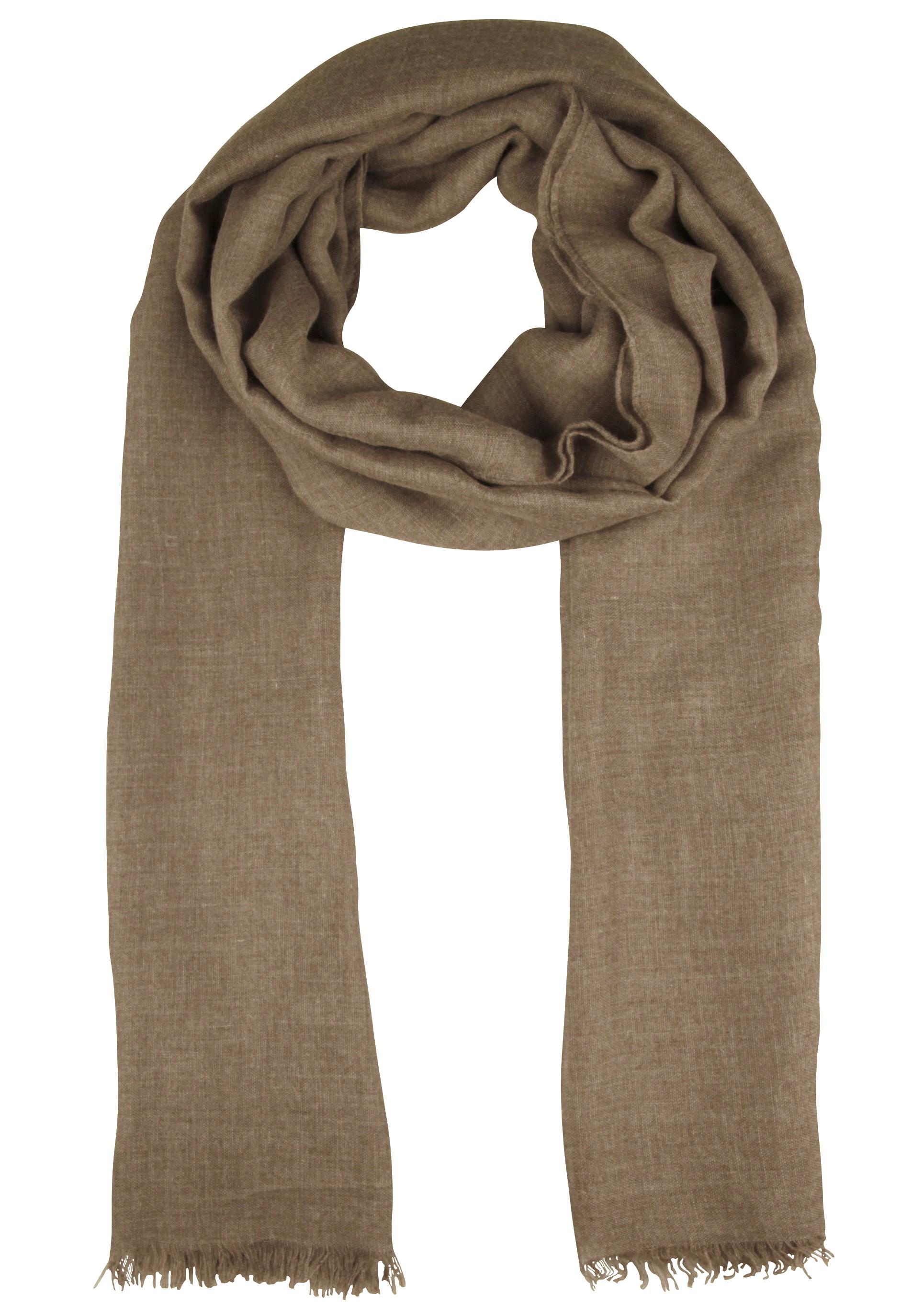 Angenehm weicher Schal mit Fransen