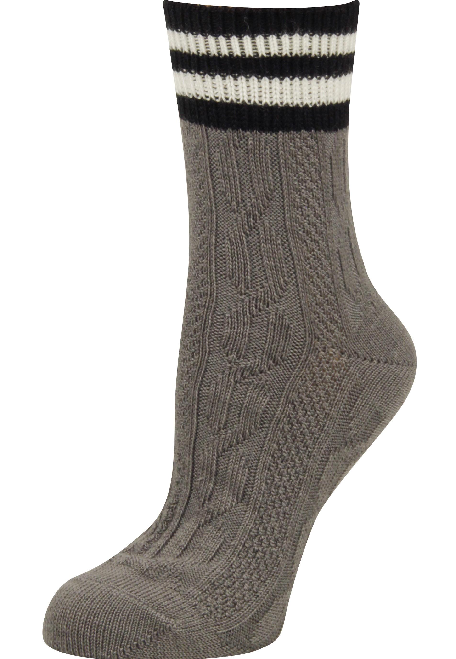 Trendy Socken mit Streifenbund