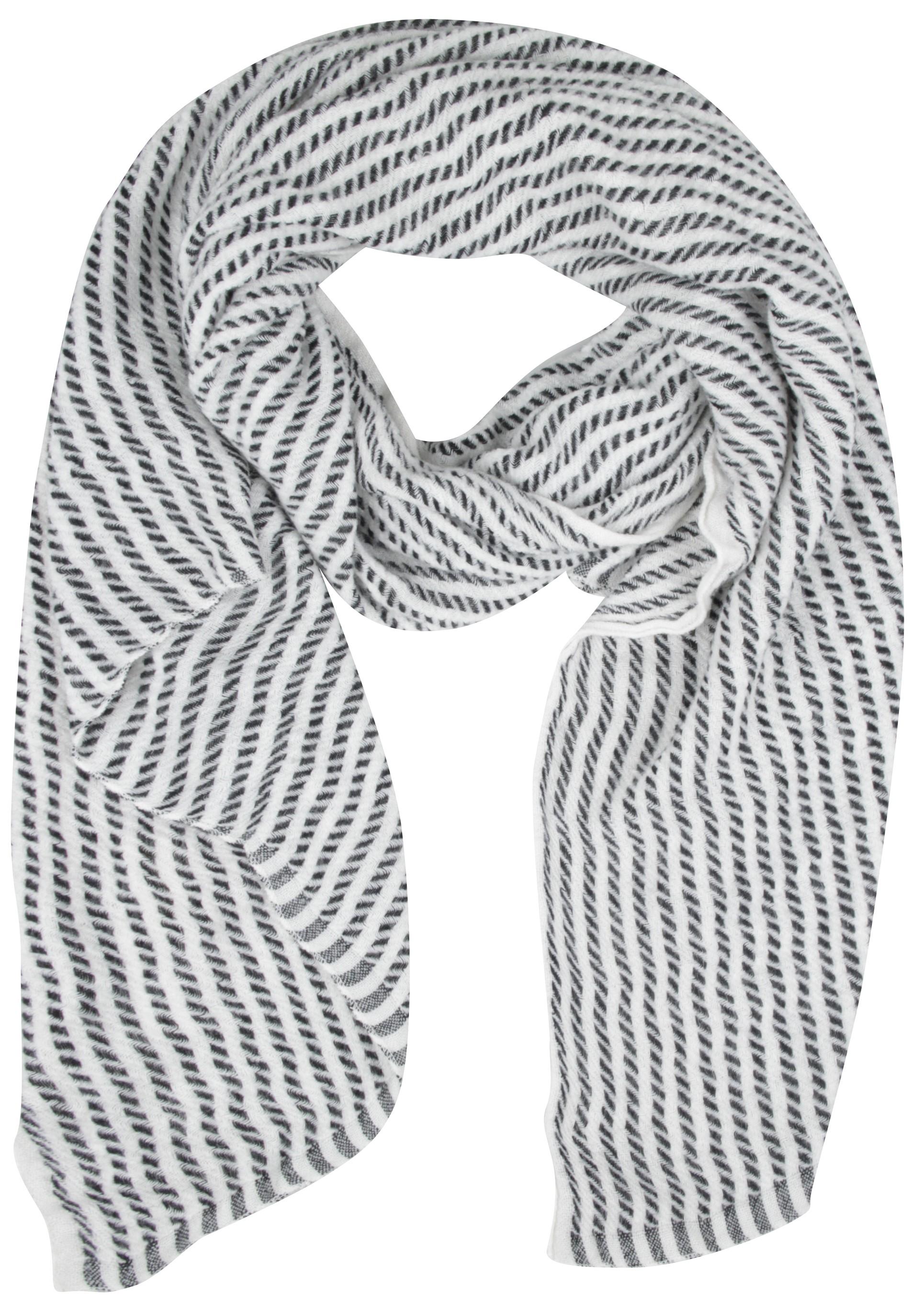 Kuscheliger Schal mit Streifen