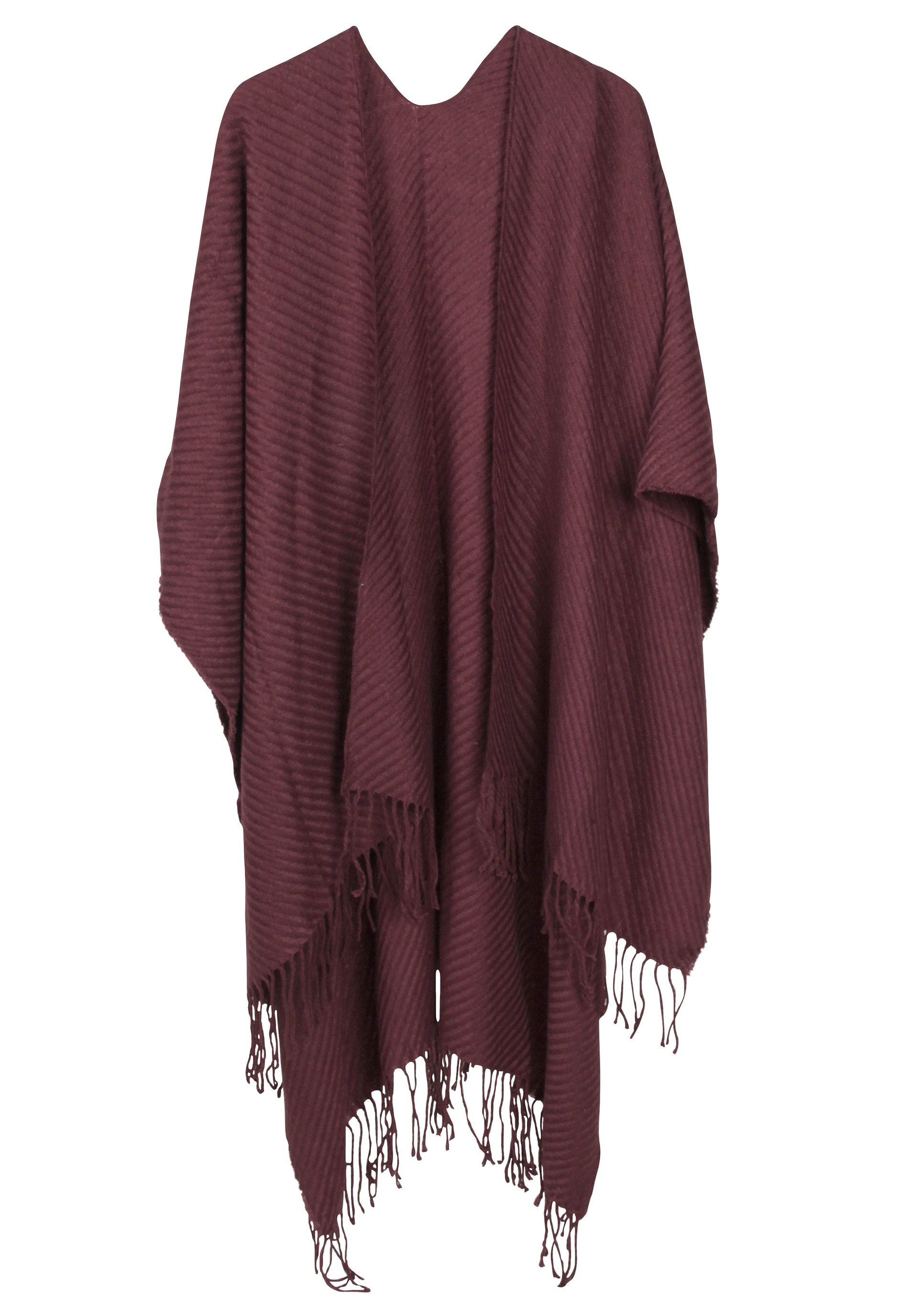 Trendy Poncho in basic Farbtönen