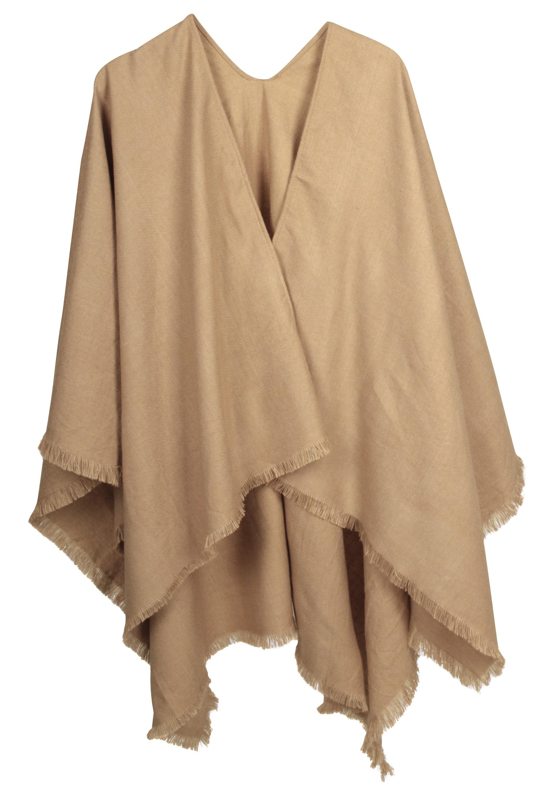 Tolle Ruana in der Trendfarbe Camel