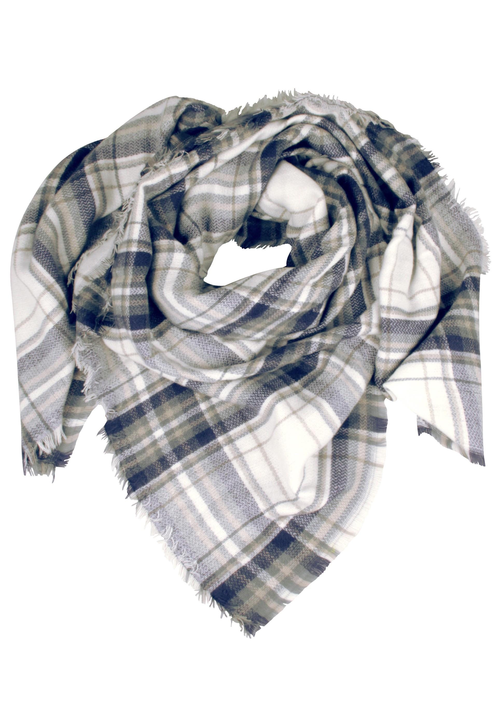 Kuschelweicher Schal in kühler Karooptik