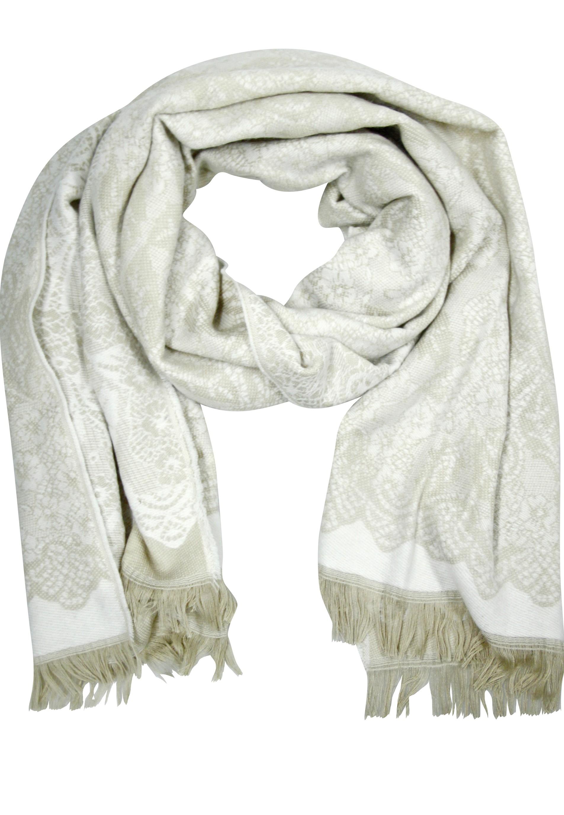 Weicher Schal mit schlichtem Muster