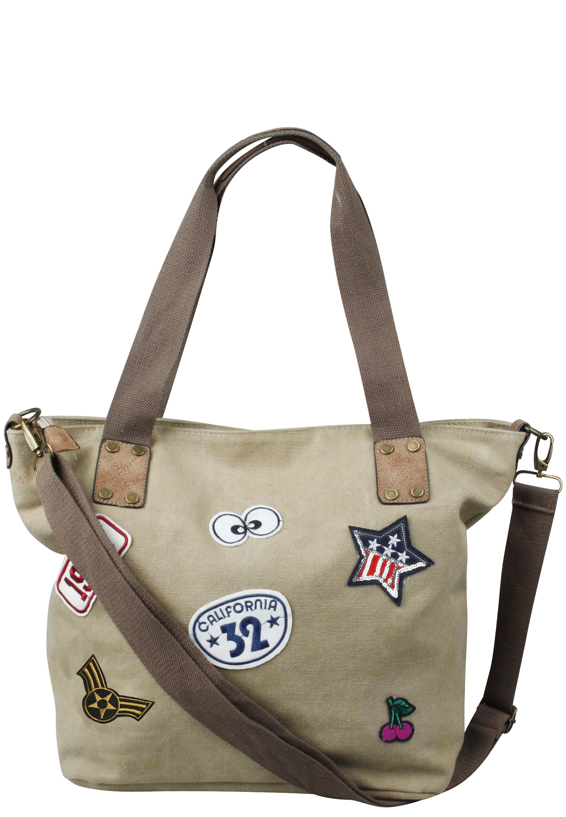 Stylischer Shopper mit Patches