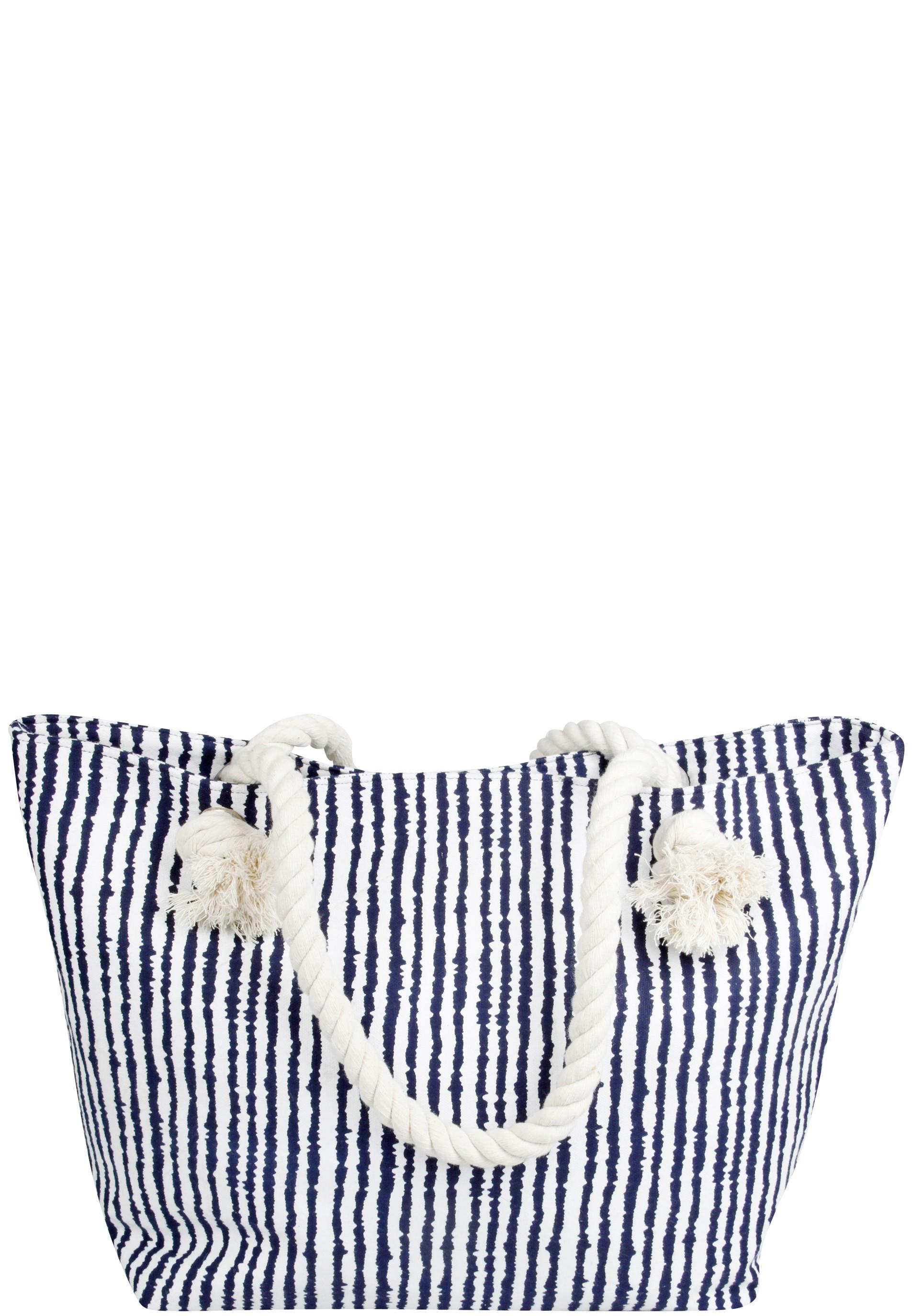 Stylische Strandtasche mit Streifen Muster