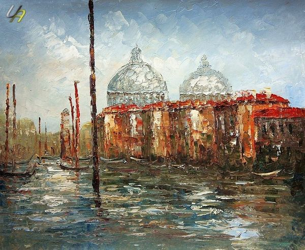 GRAND CANAL VENICE 24x36'  QUALITY OIL PAINTING B23240 – image 1