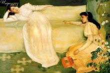 """JAMES WHISTLER SYMPHONY IN WHITE NO3 24X36"""" MUSEUM QUALITY OIL PAINTING REPRO 001"""