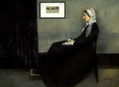 "JAMES WHISTLER PORTRAIT OF HIS MOTHER 32X44"" OIL PAINTING – image 2"