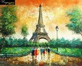 "PARIS EIFFEL TOWER VISIT 16X20"" OIL PAINTING – image 2"