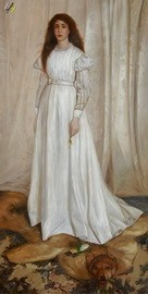 JAMES WHISTLER THE WHITE GIRL 24x48 LARGE OIL PAINTING  – image 2