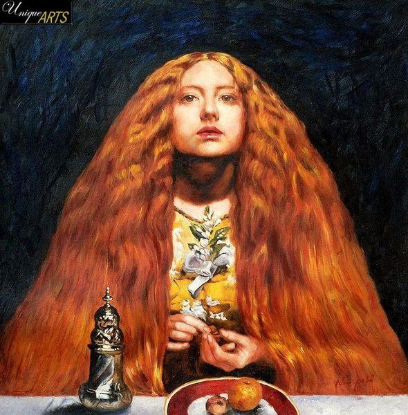 "EVERETT MILLAIS THE BRIDESMAID 24X24"" OIL PAINTING"