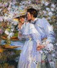 "JAMES JEBUSA SHANNON IN THE SPRING TIME 20X24"" MUSEUM QUALITY OIL REPRO 001"