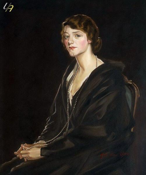 "SIR JOHN LAVERY MRS BOWEN DAVIES 20X24"" MUSEUM QUALITY – image 1"
