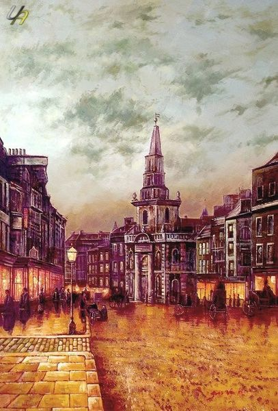 JOHN GRIMSHAW BLACKMAN STREET LONDON 24x36 OIL REPRO