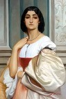"LORD FREDERIC LEIGHTON ROMAN LADY 24X36"" OIL PAINTING – image 2"