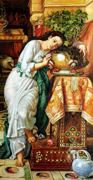 "WILLIAM HOLMAN HUNT ISABELLA 24X48"" MUSEUM QUALITY OIL – image 1"