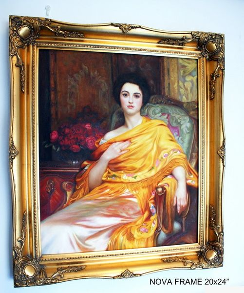 "3"" ANTIQUE GOLD (SWEPT) FRAME ""NOVA""  – image 5"