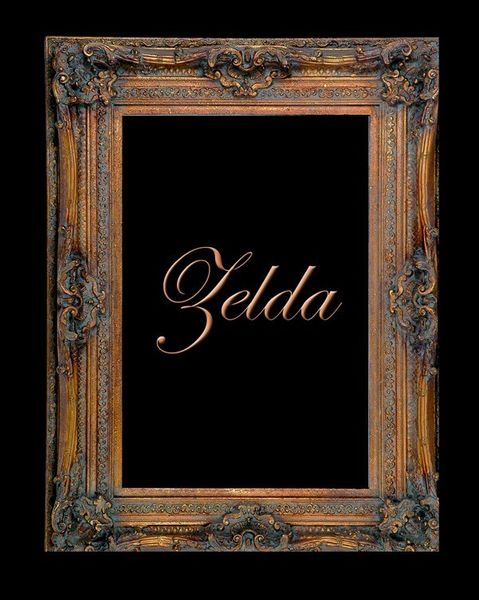 "7 1/2"" GOLD PIERCED DECORATIVE (SWEPT) FRAME ""ZELDA""  – image 1"