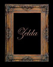 "7 1/2"" GOLD PIERCED DECORATIVE (SWEPT) FRAME ""ZELDA"""