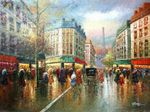 "PARIS EIFFEL TOWER ANNO 1920 36X48"" LARGE OIL PAINTING ORIGINAL CONTEMPORARY MODERN ART                        001"