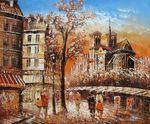 "PARIS IN AUTUMN 20X24"" OIL PAINTING 001"