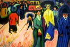 """ERNST LUDWIG KIRCHNER THE STREET 24X36"""" OIL PAINTING – image 2"""