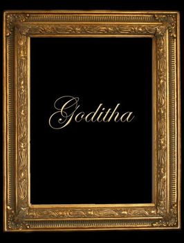 "2"" GOLD DECORATIVE (SWEPT) FRAME ""GODITHA"" FLUTED DESIGN
