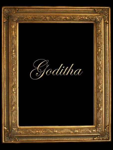 "2"" GOLD DECORATIVE (SWEPT) FRAME ""GODITHA"" FLUTED DESIGN"