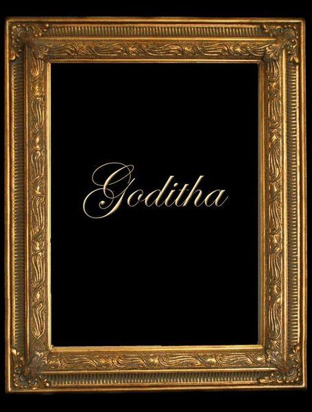 Dekorativer Gold Rahmen GODITHA mit Schnörkel