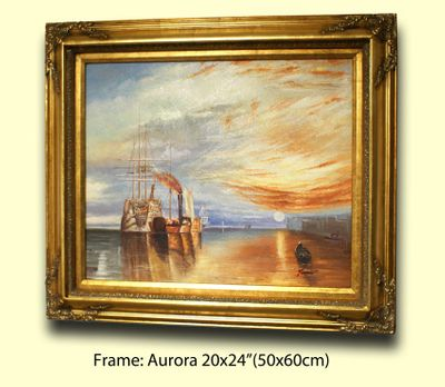"4"" ORNATE GOLD (SWEPT) FRAME ""AURORA"" – image 2"
