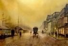 """GRIMSHAW LIVERPOOL SALTHOUSE DOCK 24X36"""" OIL PAINTING REPRODUCTION – image 2"""