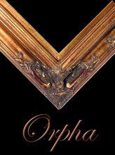 "4 1/2 ""EMBOSSED DARK GOLD (SWEPT) FRAME ""ORPHA""  001"